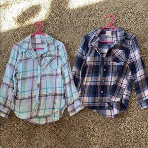 TWO fleece shirts